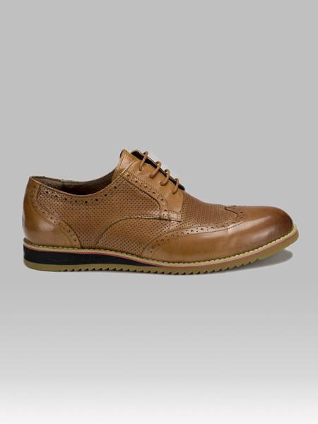 Picture of Men's leather oxford brogue shoes