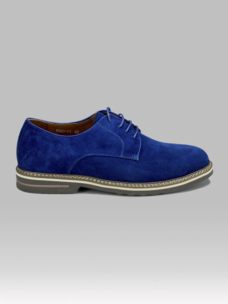 Picture of Men's suede leather derby shoes