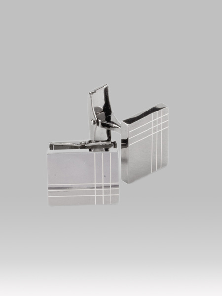 Picture of Men's silver plated brass cufflinks