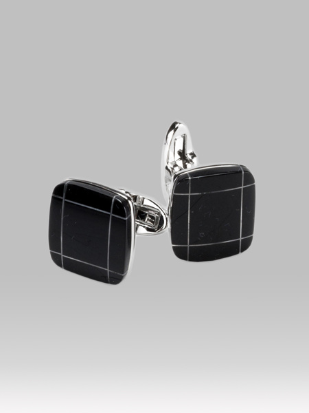 Picture of SILVER PLATED BRASS CUFFLINKS