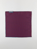 Picture of Men's blue red jacquard pocket square hanky