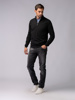 Picture of Men's zip high neck soft sweater