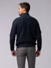 Picture of Men's raglan zip high neck sweater beehive weave
