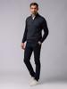 Picture of Men's zip high neck sweater with herringbone jacquard