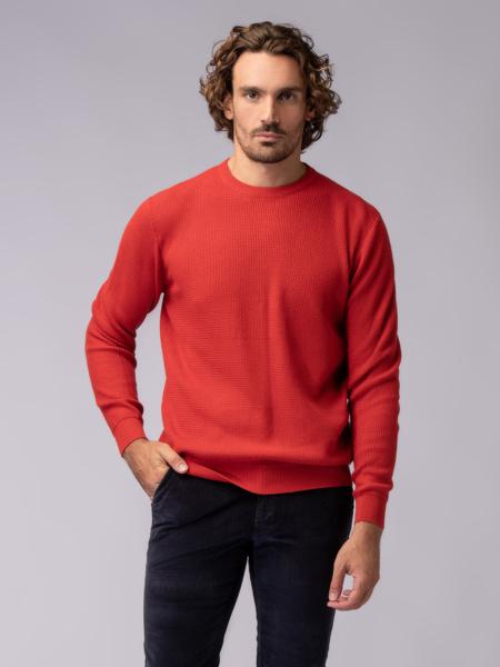 Picture of Men's crew neck knitwear sweater  raglan sleeves