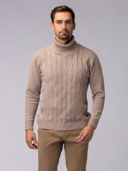 Picture of MEN'S HIGH-NECKED BRAID KNITWEAR