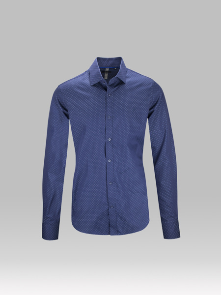 Picture of NAVY BLUE POKA SHIRT