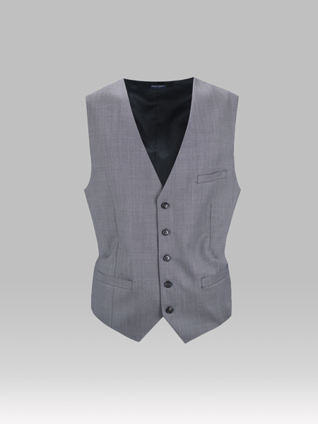 Picture of GRAY WOOL VEST WITH SMALL DESIGN