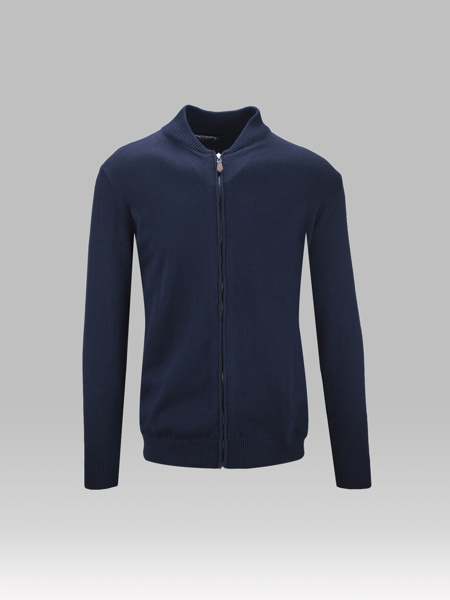 Picture of KNITTED JACKET COLLEGE COLLAR