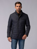 Picture of Men's parka quilted-shaped high neck jacket