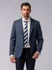 Picture of Men's wool mix herringbone blazer jacket with picked lapel.Assorted pants.