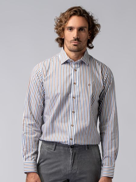 Picture of Men's striped shirt in fine cotton