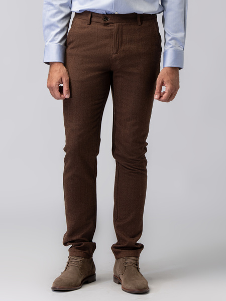 Picture of WOOL CHINO TROUSERS