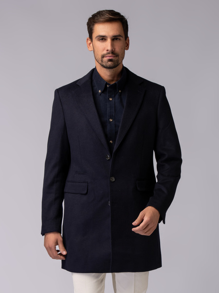 Picture of Three-ply single-breasted woolen mix coat