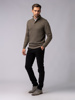 Picture of Men's high neck sweater with zip placket