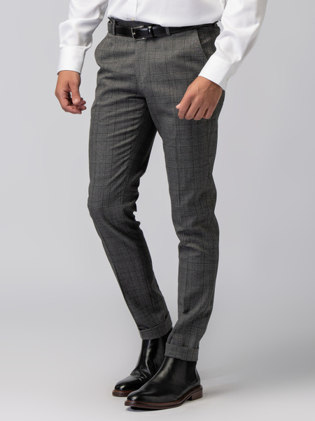 Picture of Men's wool mix checked chinos pants- Assorted blazer