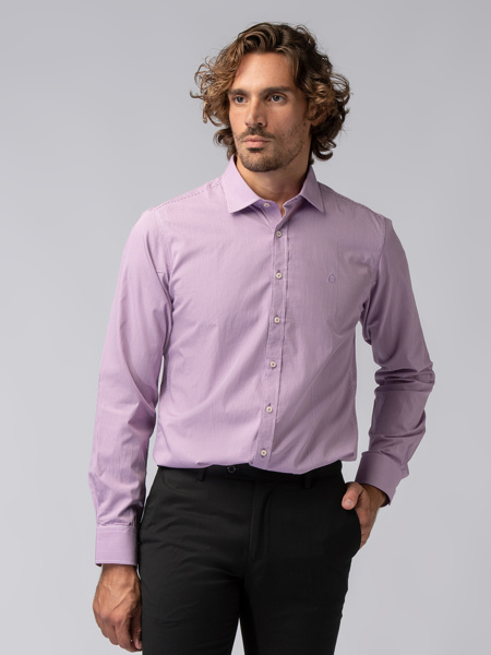 Picture of Men's small check cotton shirt