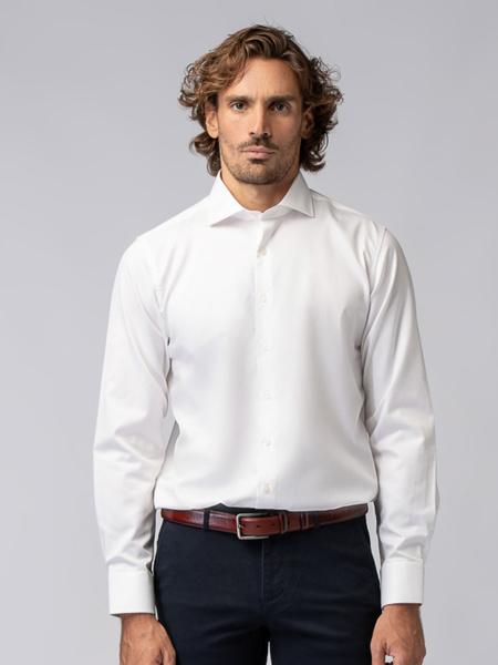 Picture of Men's white shirt in fine cotton