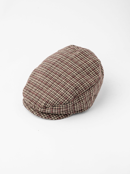 Picture of Men's check wool mix ascot hat in brown hues
