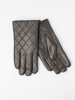 Picture of Men's leather gloves with diamond stitching