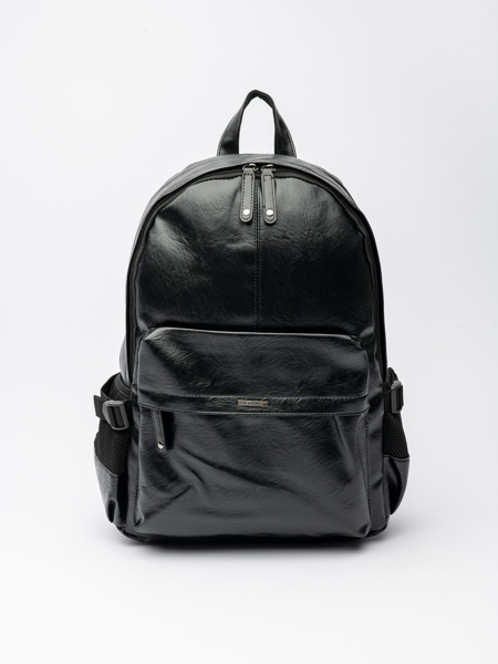 Picture of Men's black backpack with zip opening