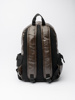 Picture of Men's brown backpack with zip openning
