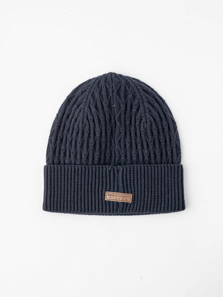 Picture of Men's beanie hat in dark blue colour