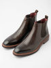Picture of Men's leather ankle boots with elastic sides