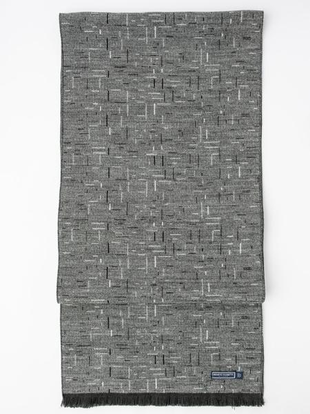 Picture of Men's soft scarf in grey melange