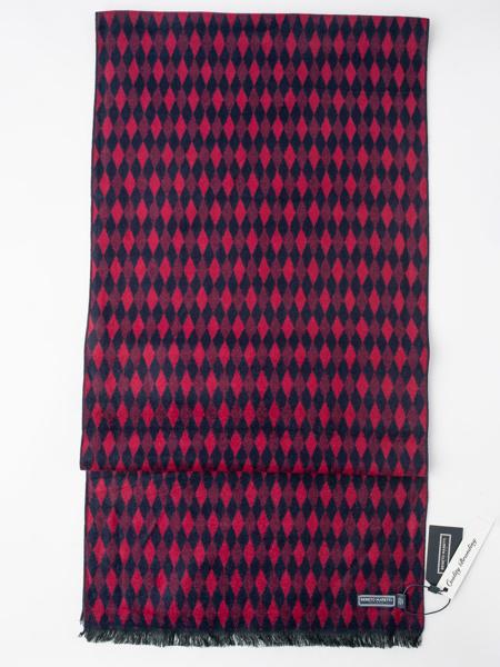 Picture of Men's soft blue/purple scarf in geometric design