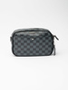 Picture of Men's small check sling travel case/ wash bag